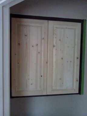 Custom Made Knotty Pine Raise Panel Door
