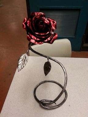 Custom Made Metal Rose