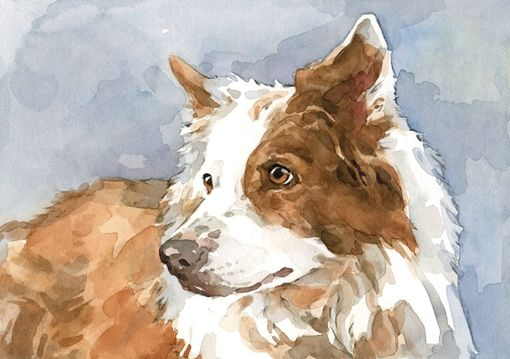 Custom Made 5x7 Custom Pet Watercolor