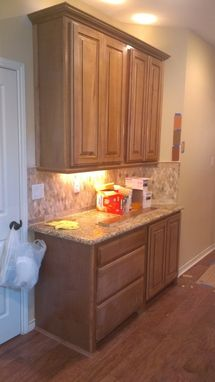 Custom Made Maple Kitchen Stained And Glazed
