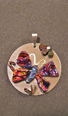 Custom Made Glass Butterfly Pendant