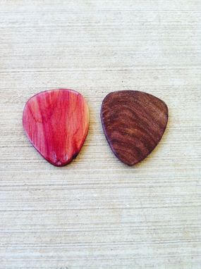 Custom Made Mesquite Or Cedar, Wooden Guitar Picks