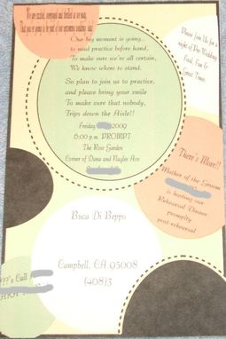 Custom Made 50 Custom Designed Rehearsal Dinner Invitations With Envelopes, Your Theme Or Style