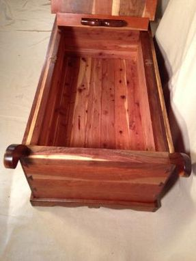 Custom Made Cedar-Lined  Chest Made With  Walnut And  Cherry.