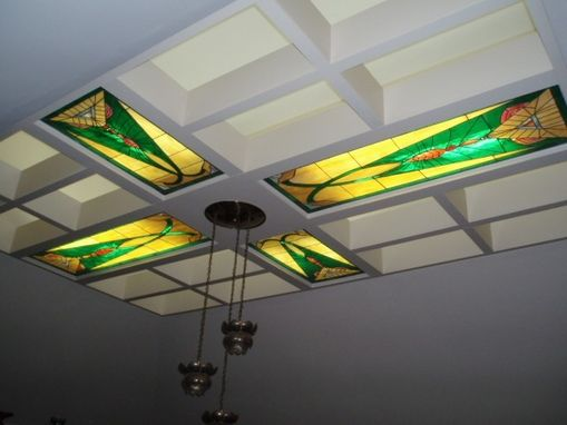 Custom Made Illuminated Stained Glass Ceiling Panels
