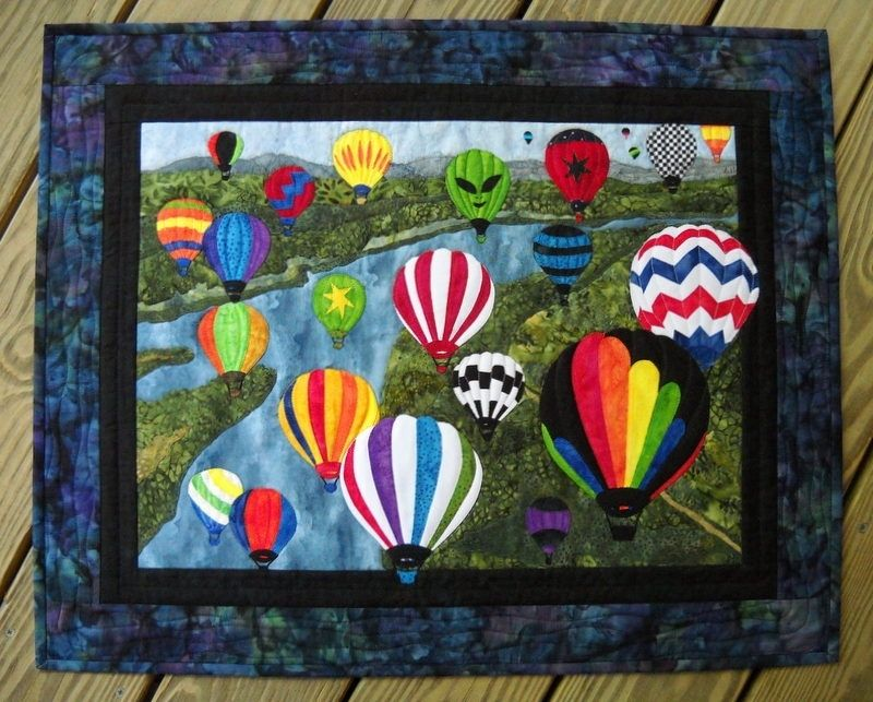 Wall Hanging Quilts handmade hot air balloons wall hanging quiltsue ann wiltse