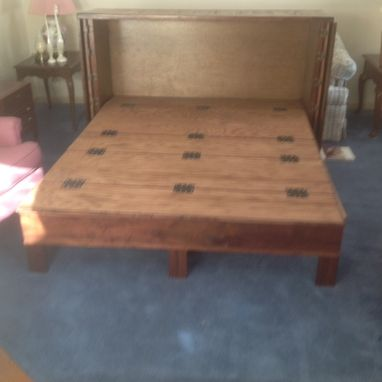 Custom Made Walnut Cabinet Hide A Bed