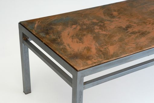 Custom Made Coffee Table, Composite Top, Steel Base