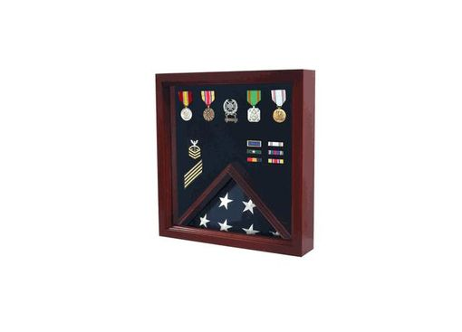 Custom Made Military Flag And Medal Display Case - Shadow Case