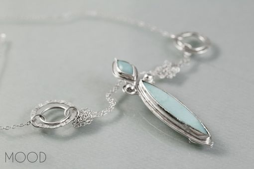 Custom Made Right As Rain - Ooak Amazonite And Sterling Silver Forged Gemstone Necklace
