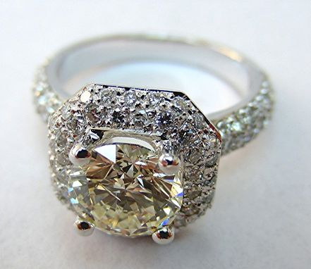 Custom Made Micro-Pave Halo Ring
