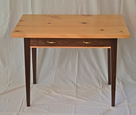 Custom Made Writing Desk Of Black Walnut And Knotty Pine