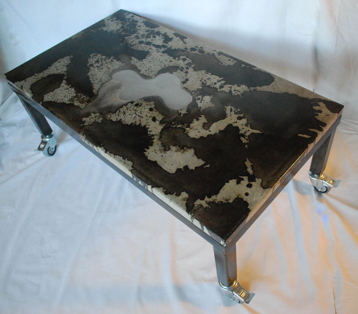 Terrific Hand Crafted Concrete Coffee Table With Steel Frame By Ore Spiritservingveterans Wood Chair Design Ideas Spiritservingveteransorg