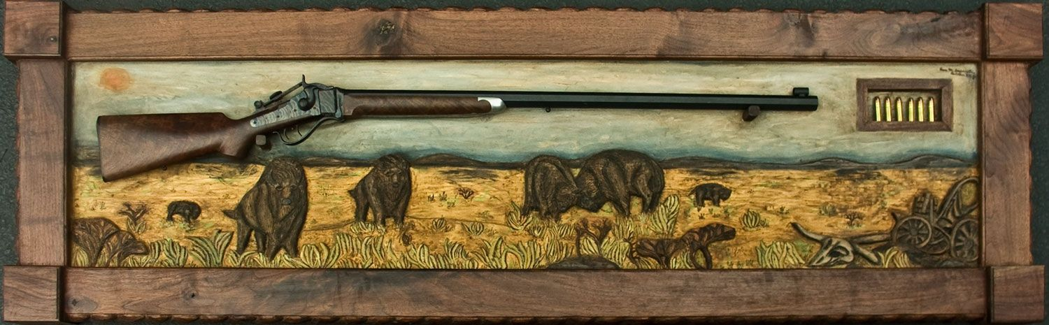 """Hand Crafted """"Shiloh Prarie"""" Hand Carved Wildlife Scene"""