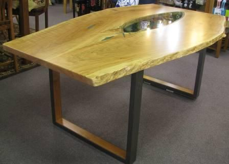 Custom Made Stunning Curly Cherry Dining Table