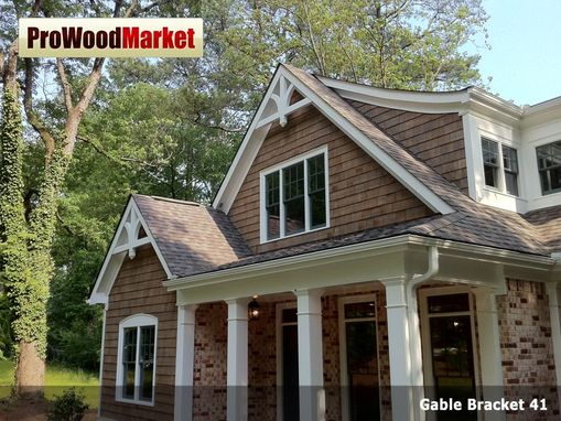 Custom gable bracket 41 by pro wood market for Craftsman style brackets