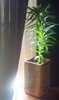 Custom Made Reclaimed Wood Vase