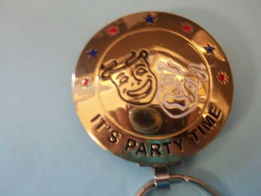 "Custom Made ""Party Time"" Key Ring"