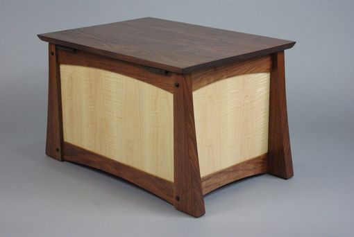 Custom Made Walnut And Curly Maple Keepsake Box