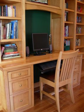 Custom Made Built-In Desk & Matching Custom Chair