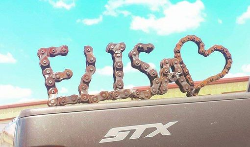 Custom Made Metal Name Signs Bicycle Chain