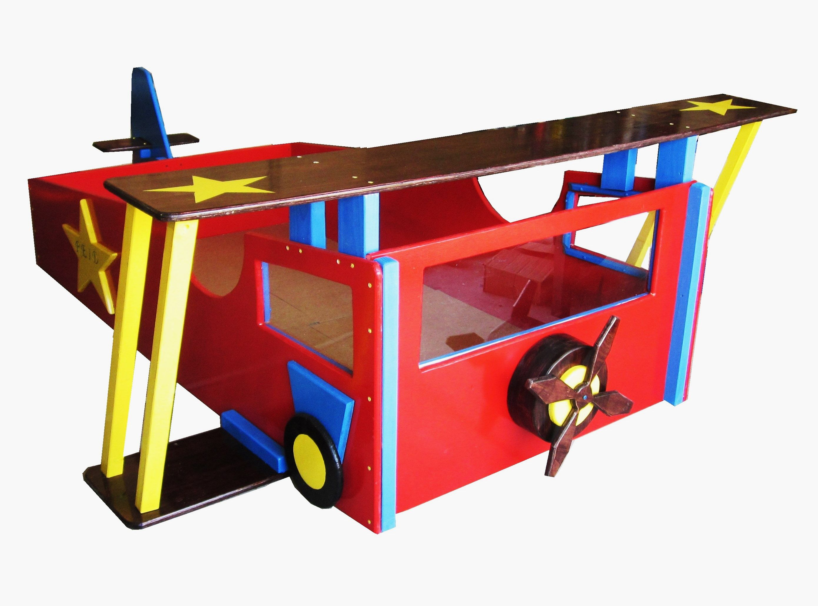 Hand Crafted Twin Bed - Custom Bed Frame Airplane Bed Kid\'s Bed by ...