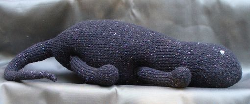 Custom Made Hand-Knit Toy - Lizard