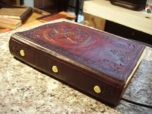 Hand Crafted Hand Tooled Leather Pentagram Blank Book