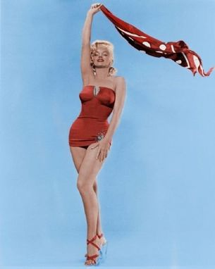 34d6893f3d Hand Made Custom Couture Marilyn Monroe Red Swimsuit With Swarovski ...