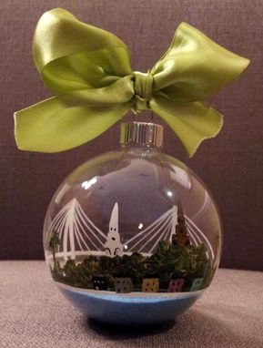 Custom Made Hand-Painted, Glass Christmas Ornaments By Laura Martindale