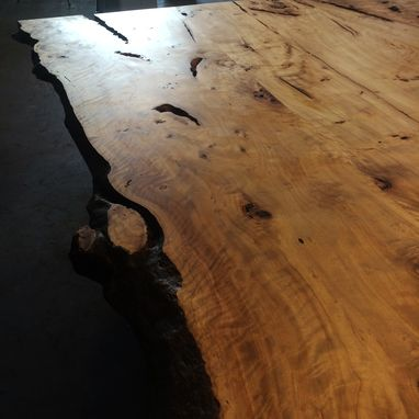 Custom Made Live Edge American Elm Slab Barn Door