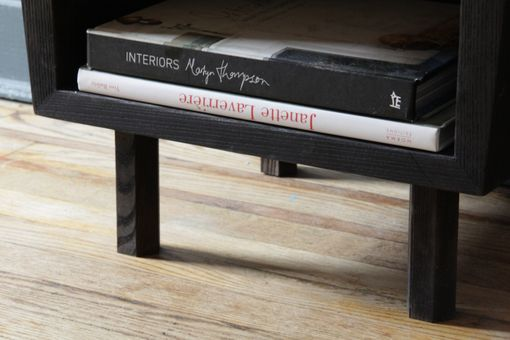 Custom Made Black As Nightstand - Torched Solid Ash