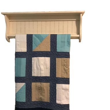 Custom Made Quilt Rack And Blanket Shelf