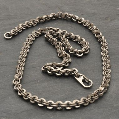 Custom Made Titanium Double Link Necklace
