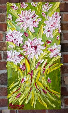 "Custom Made ""Miley's Bouquet"" Impasto Painting Sold"