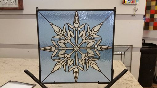 Custom Made P-151 Snowflake-Stained Glass Panel