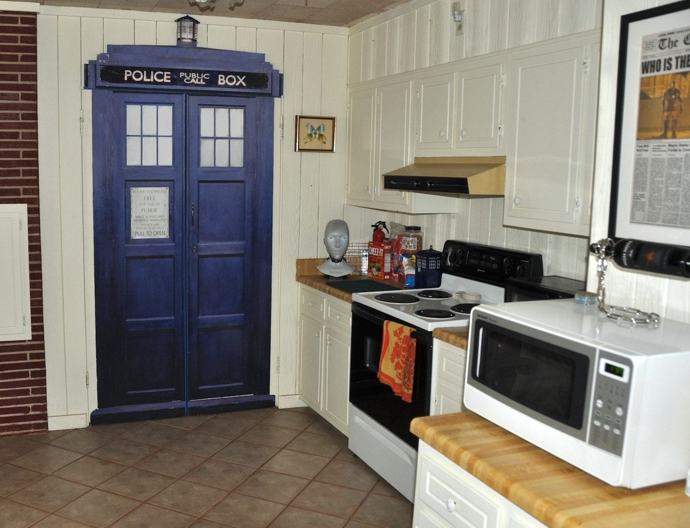Wall Stickers How To Apply Hand Made Life Size Tardis Wall Decal By Wilson Graphics