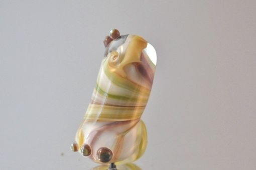 "Custom Made Lampwork Glass Bead ""Silver Glass Fantasy"""