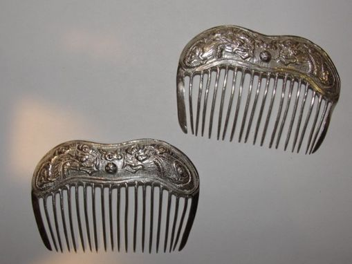 Custom Made Small Antique Inspired Chinese Dragon Hair Comb