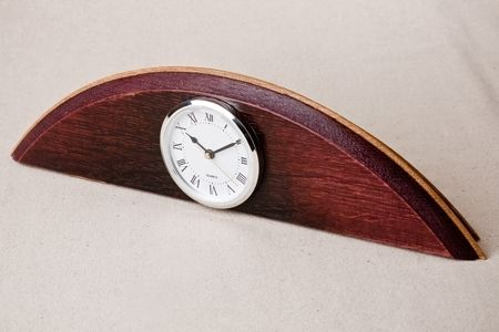 Custom Made Barrel Head Desk Clock