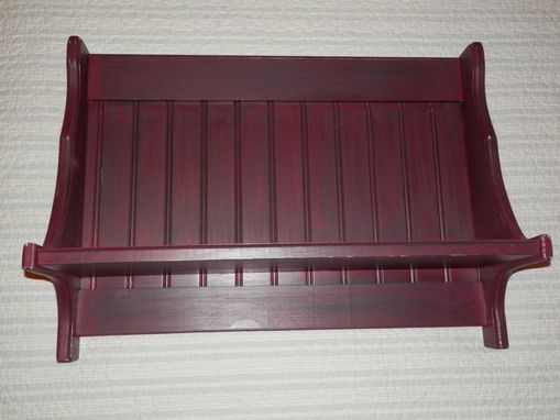 Custom Made 2 Foot Wooden Handmade Wall Shelf Painted Rustic Wine