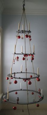Custom Made Hanging Metal Christmas Tree