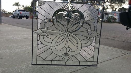 Custom Made Incredible All Clear Beveled Cluster Stained Glass Window
