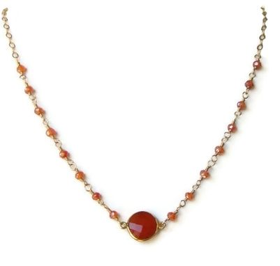 Custom Made Three In One 14k Gold Filled Carnelian Jewelry