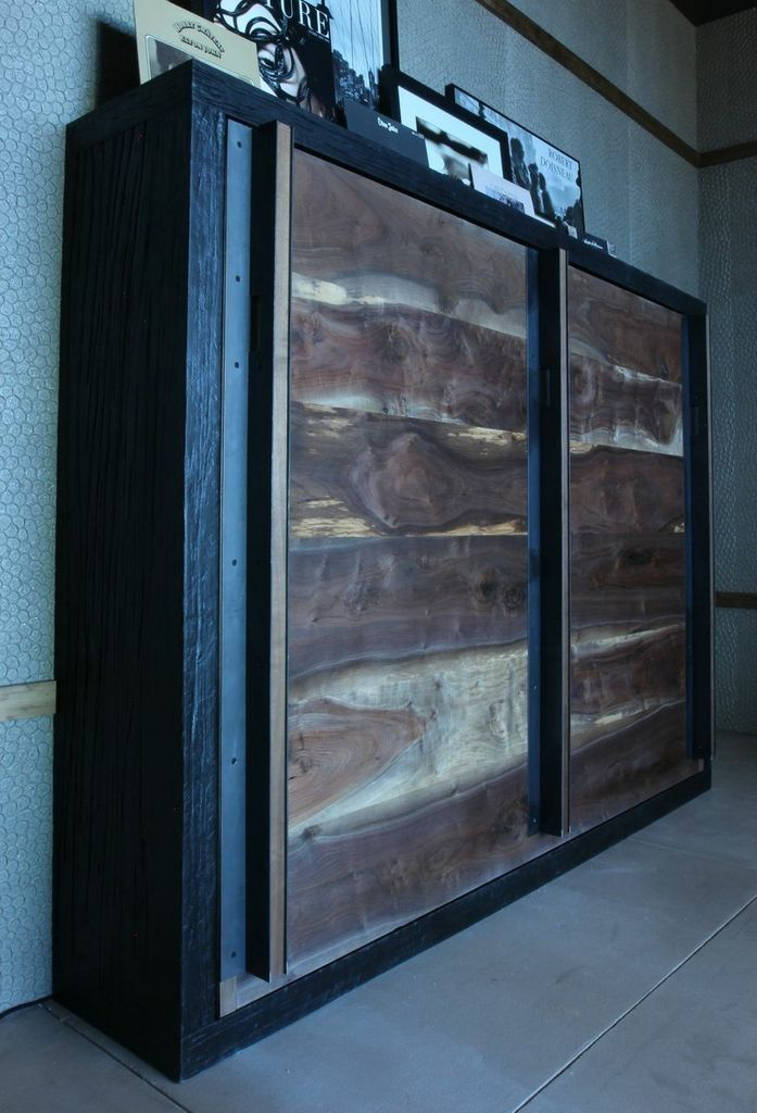 Custom Made Reclaimed Wood Murphy Bed by Puddle Town Woodworking
