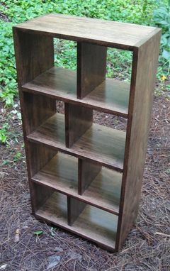 Custom Made Mr2 Custom Hardwood Open Back Bookcase