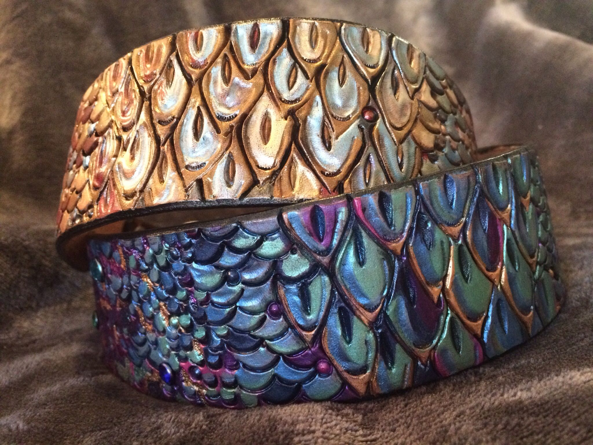 Buy A Hand Crafted Dragon Scale Leather Dog Collar Made