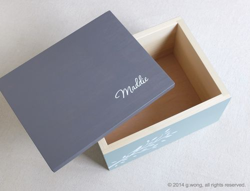Custom Made Custom Wooden Box – Keepsake Box, Jewelry Box, Mementos, Wedding, Photo Box