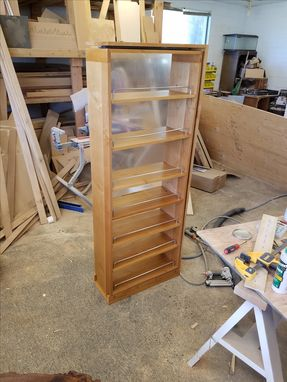 Custom Made Solid Maple Pull Out Cabinet