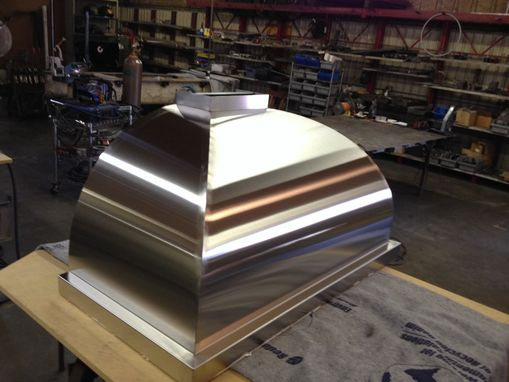 Custom Made Curved Stainless Steel Range Hood